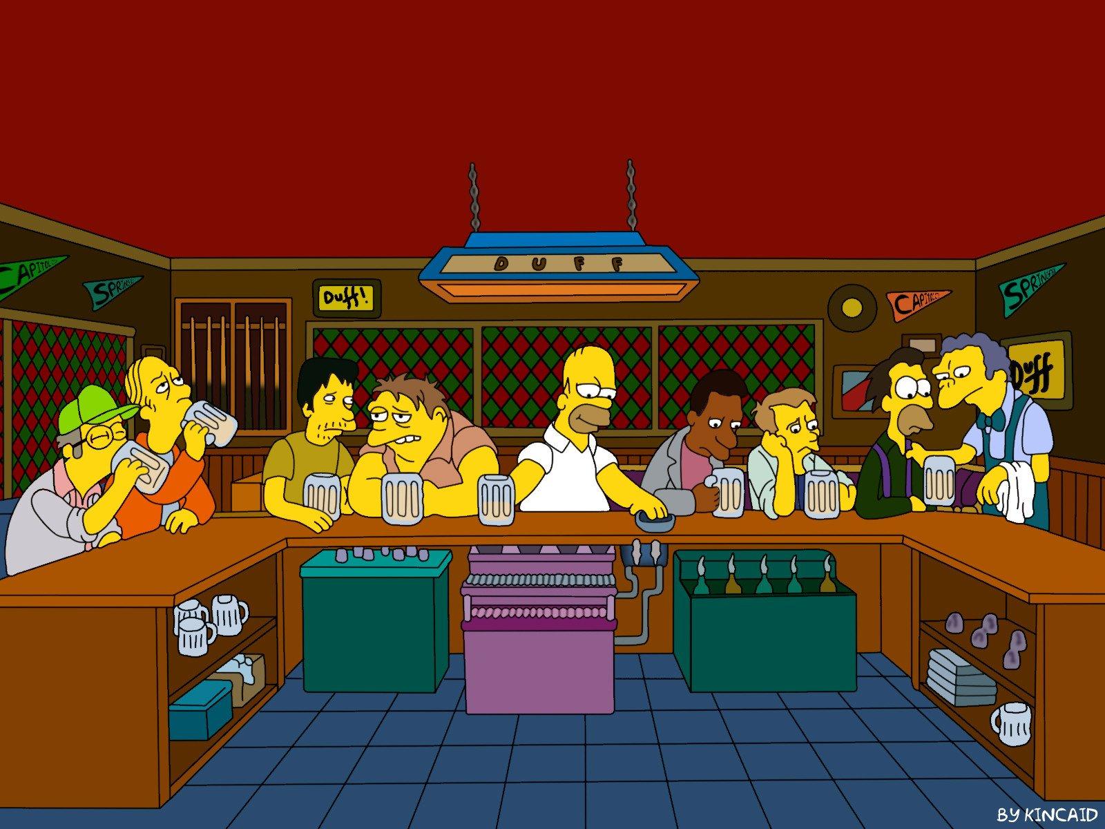 Barra bar Simpsons