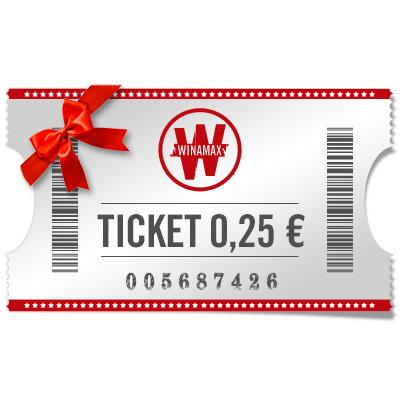 Ticket 0,25€ para regalar