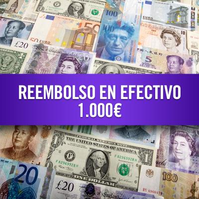 Reembolso en efectivo 1.000 €