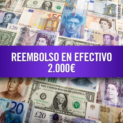 Reembolso en efectivo 2.000 €