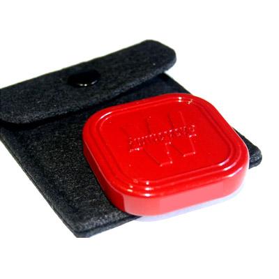 Botón repartidor (Dealer) luxe metal rojo
