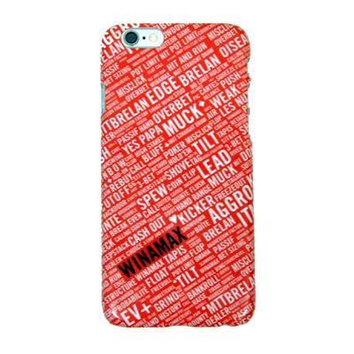 Carcasa dura roja y blanca para Iphone 6