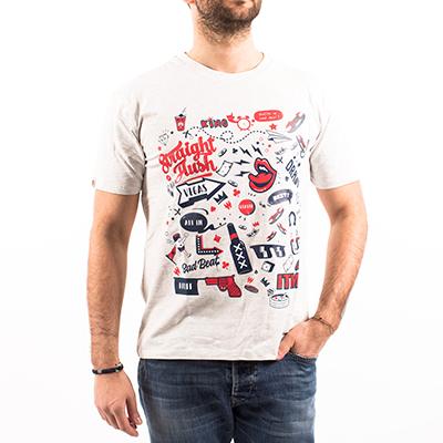 Camiseta Shuffle up and deal - Gris claro