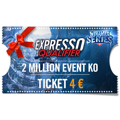 Ticket Expresso Qualifier 2 Million Event KO 4 € para regalar