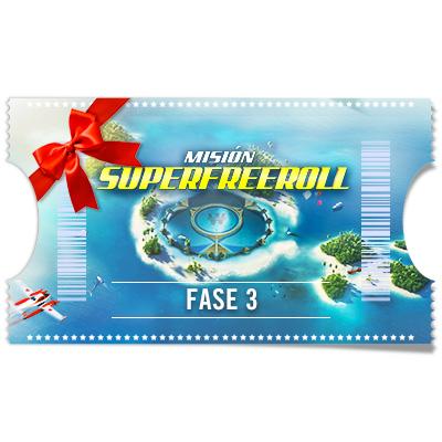 Ticket Super Freeroll 100.000 € - Fase 3 para regalar